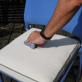 Dry Lion Cushions are water and stain repellent, easy to clean.