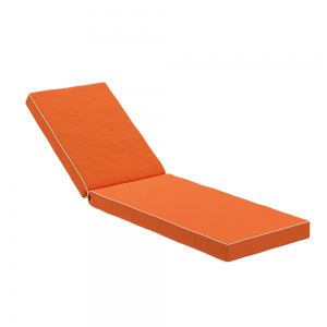 Dry Lion Weatherproof Sun Lounger Cushion, Contrast Piping